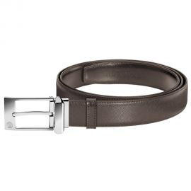 Caran d'Ache Reversible Saffiano Belt with Rectangular Buckle