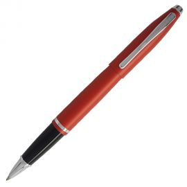 Cross Calais Crimson Red Chrome Trim Rollerball Pen