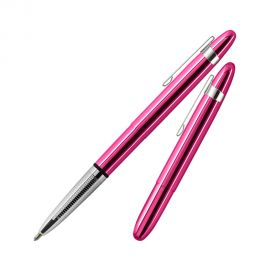 Fisher Space Pen 400 Bullet Translucent Fuchsia Flurry Ball Pen with Clip