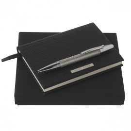 Hugo Boss A6 Note Pad + Fuse Chrome Ball pen