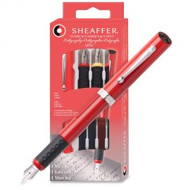 Sheaffer Calligraphy Mini Kit One Pen with Fine Medium and Broad Nib Assembly.